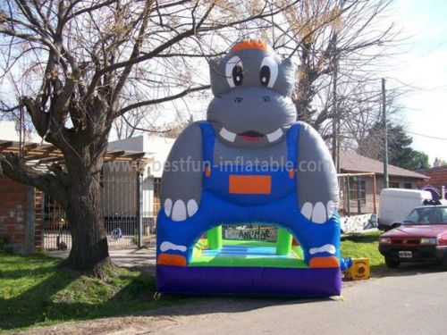 Huge Hippo Jumping Bounce Houses
