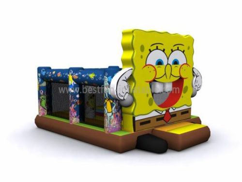 Big Outdoor Spongebob Bounce House