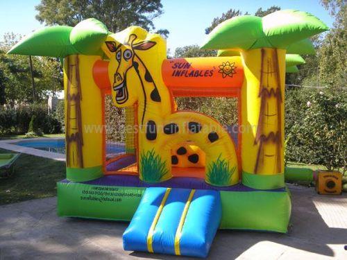 Giraffe Inflatables Theme Park Bounce Castle