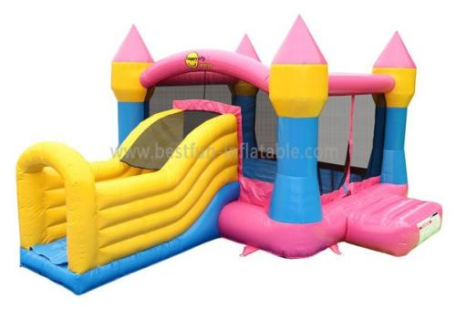 Lovely Jumping Inflatables Castle With Slide