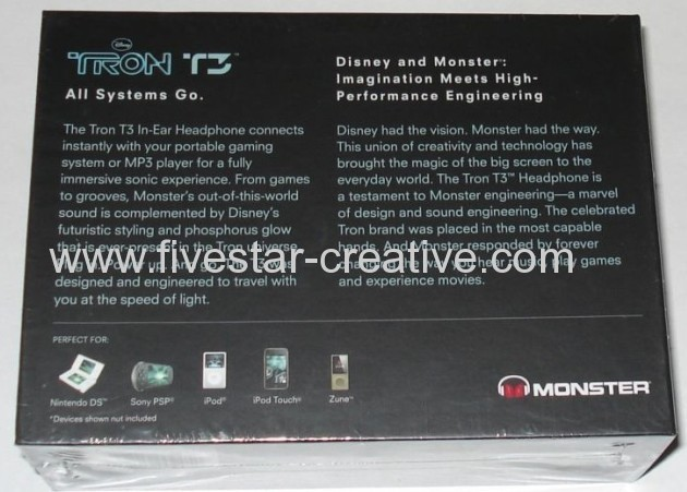 Monster TRON T3 Black In-Ear Earphones Headphones for iPod iPhone MP3 player