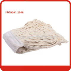 Polyester mixed cotton + pp Fixed steel handle cotton wet mop