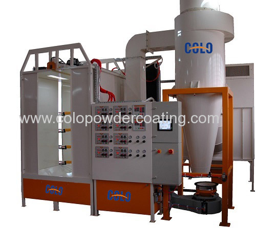 Big cyclone powder coating spray booth manufacturers and for Powder coating paint booth