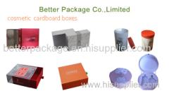 Cosmetic cardboard packaging boxes