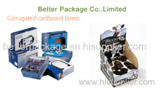 Electronic corrugated packaging boxes