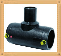2013 hot sale HDPE Electrofusion reduced Tee 90D HDPE water supply fittings from China