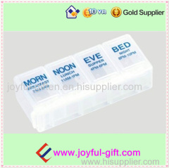 Plastic Portable Transparent Lockable 1 Day Medicine Box For Promotion