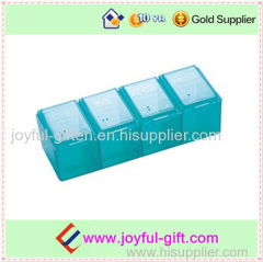 Plastic Portable 4 Case Multifunctional Pill Box For Promotional