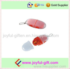 Promotional Plastic Protable Transparent 2 Case Pill BOX Wiht Lid