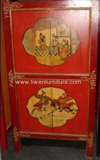 Mongolia painting wardrobe 4 doors