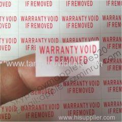 Rectangular Destructible Warranty Sticker