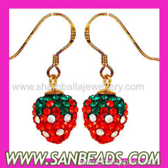 Czech Crystal Strawberry earrings