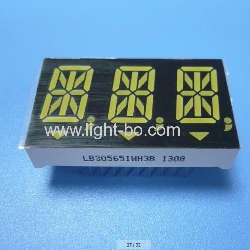 Ultra White Triple-Digit 14.2mm (0.56 ) Anode 14 Segment Alphanumeric LED Display for Instrument Panels