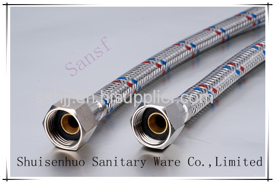 Stainless steel braided hose with Red and blue color