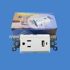 USB Wall Switch Wall Socket with One USB Port