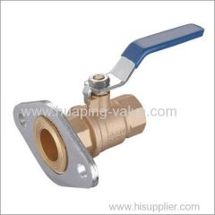 Two piece Brass Ball Valve with Rotating Flange