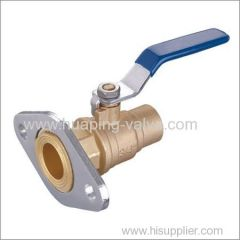 Two piece Brass Ball Valve with Rotating Flange Solder