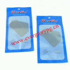 one-side clear plastic pouch with zipper