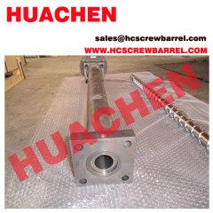 Extruder bimetallic screw and barrel