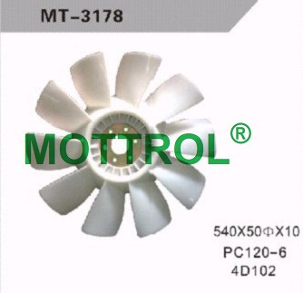 PC120-6 4D102 FAN BLADE FOR EXCAVATOR