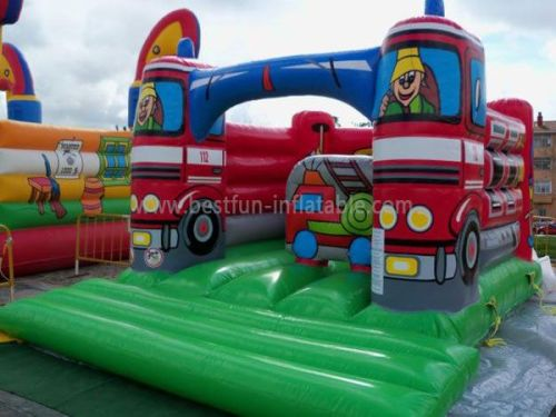 Fire Truck Bounce Jump Inflatable