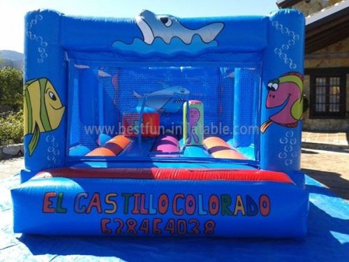 Under The Sea Blue Inflatable Jump Castle Rentals