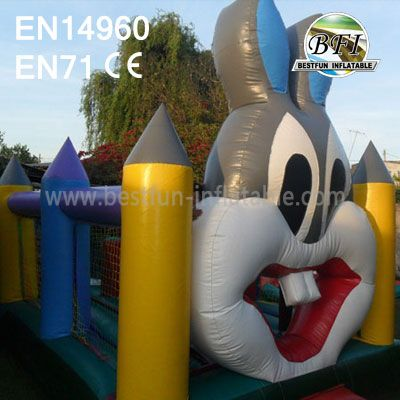 Giant Inflatable Rabbit Moonwalks