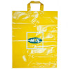Length handle printed plastic clothes bag for shopping