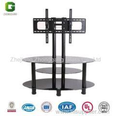 glass tv rack/glass tv table
