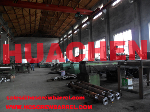 Screw barrel for second hand extruder machines