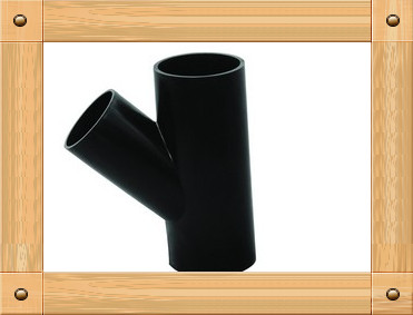 "2013 hot sale HDPE Butt welding fittings ""Y"" Type Tee"
