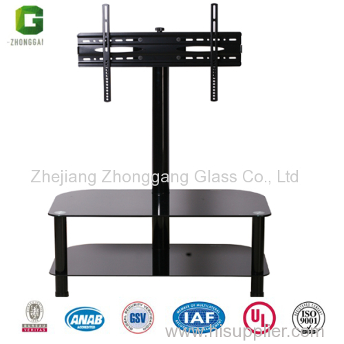 2 Layer Glass Tv Stand Rack, Glass Table Stand For Tv
