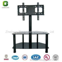 Simple and cheap tempered glass TV Stand/Convenience Concepts Glass TV Stand/Bent glass tv stand