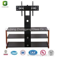 Glass TV Table with MDF Frame/Living Room Furniture/MDF TV Table/Wooden TV Table
