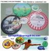 round foldable nylon frisbee