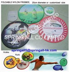 foldable nylon advertising frisbee