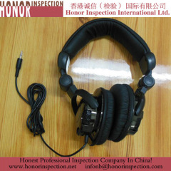 Professional Head Phone Pre-shippment Inspection