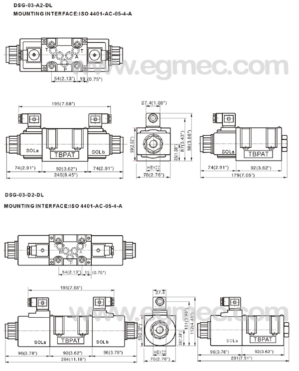 DSG Yuken Solenoid Operated Directional Valve