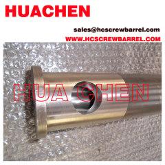 Bimetallic extruder barrel screw