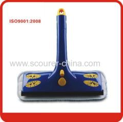 Plastic Handle Blue& yellow Spray Window Squeegee