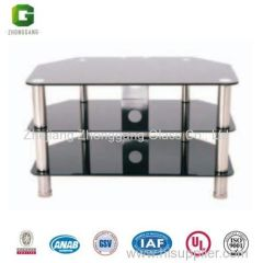 Digital Home Furniture/glass TV Table/Stainless Steel Stands Glass TV Table