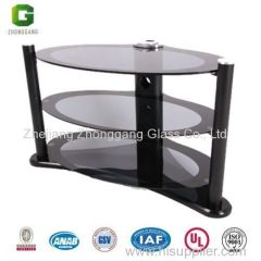 Plasma TV Glass Table TV Stand/ TV Table for Europe Market/ Hot TV Table for High-end Market