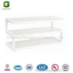 Tempered Glass TV Table/Colour Glass TV Stand/Hot Sale Glass TV Table