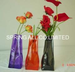 Foldable pvc vase , measure 29*10.5*7cm