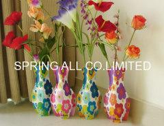 Colorful logo Foldable pvc vase