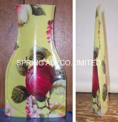 Colorful foldable pvc vase