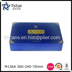 Rectangular Food Packing Tin Case
