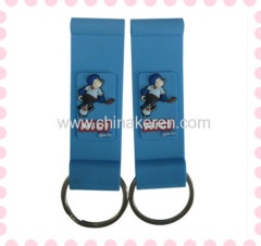 3D soft PVC tags blue hanger