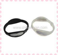silicone Ion Power Bracelet with customized print logo