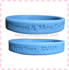 2012 Cute blue Customized Silicone Bracelets